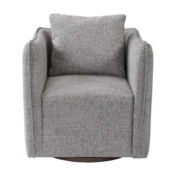 Corben Gray Swivel Chair - Hudsonhill Foundry