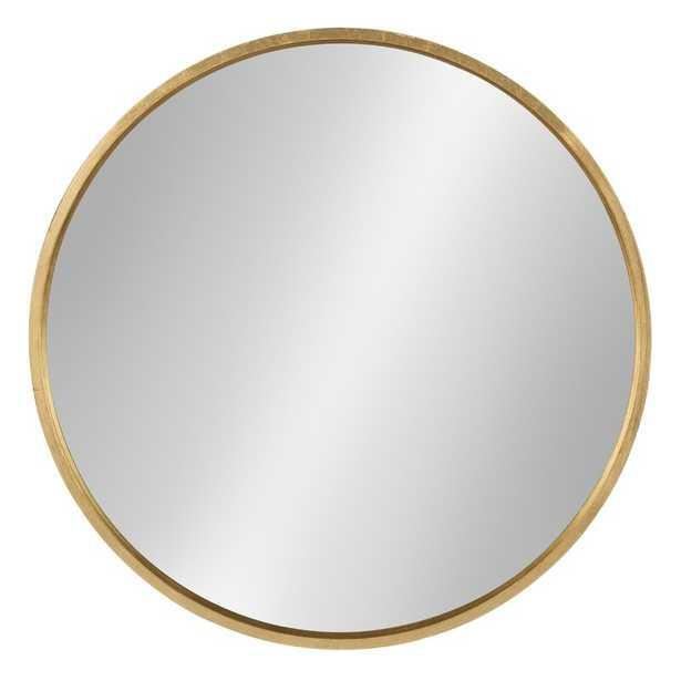 "31.5"" x 31.5"" Gold Swagger Modern & Contemporary Accent Mirror - Wayfair"