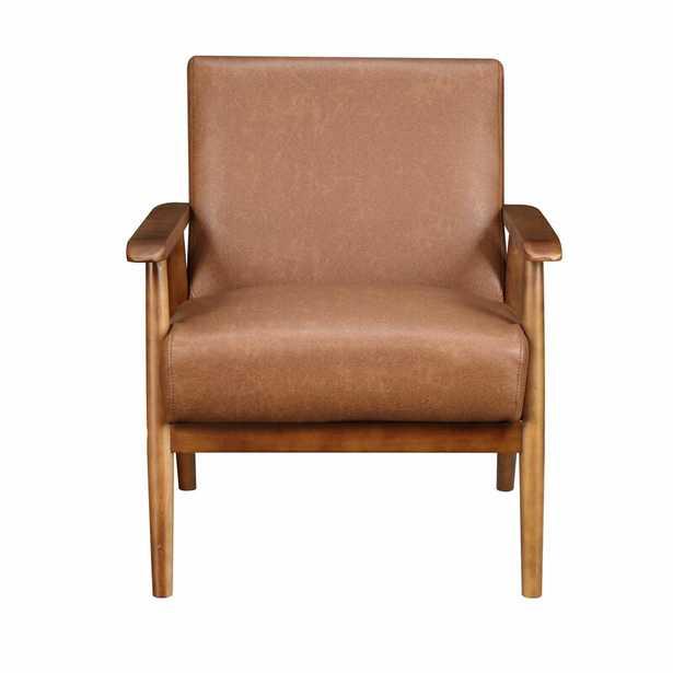 """Barlow 21"""" Armchair, Cognac Polyester Blend - Wayfair"""