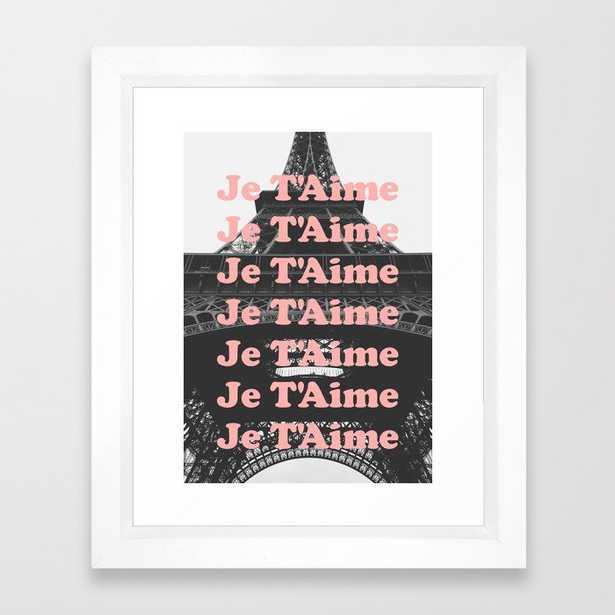 Paris Je T'Aime Framed Art Print - Society6