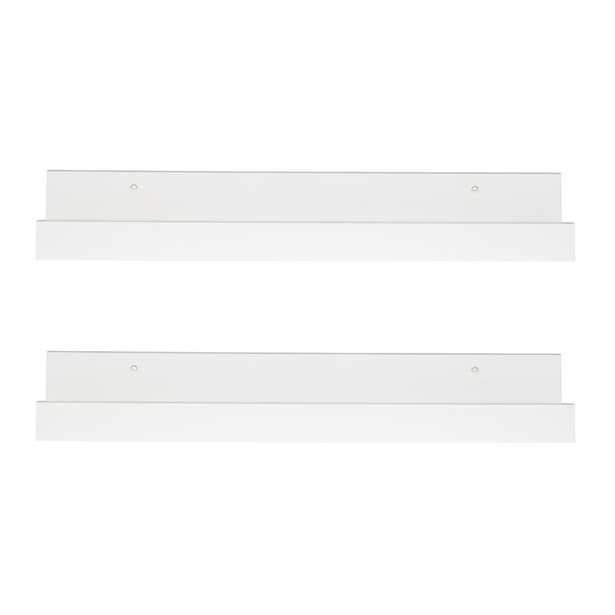 Forsyth 2 Pieces Floating Shelf Set - White (Set of 2) - AllModern