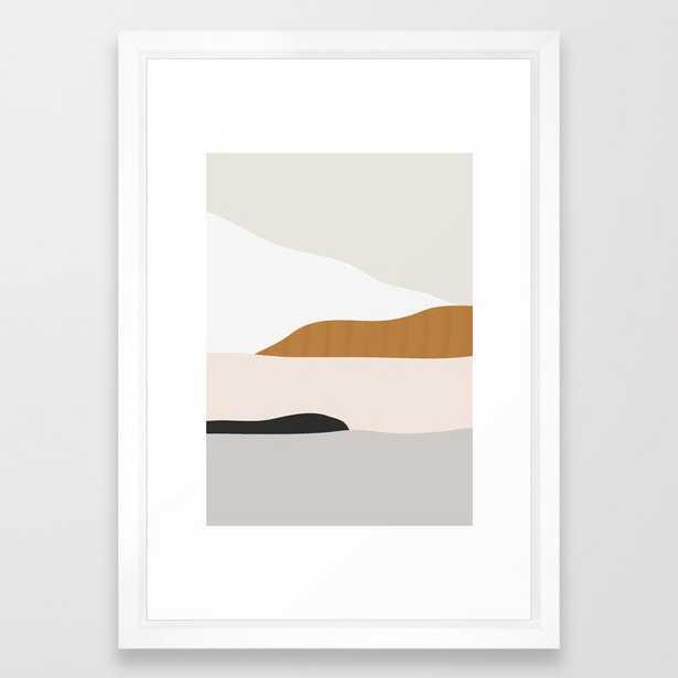 "Minimal Art Landscape 2  - 15"" x 21"" - vector white - Society6"