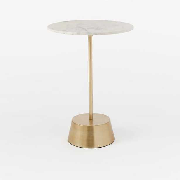 White Marble Maisie Side Table - Contract Grade - West Elm
