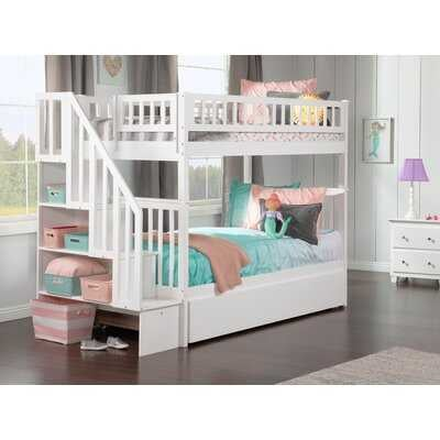 Shyann Twin over Twin Bunk Bed with Trundle and Shelves - Wayfair