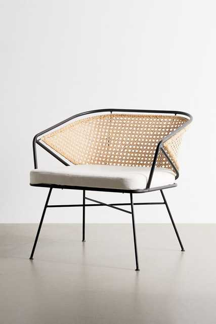 Carole Rattan And Metal Chair - Anthropologie