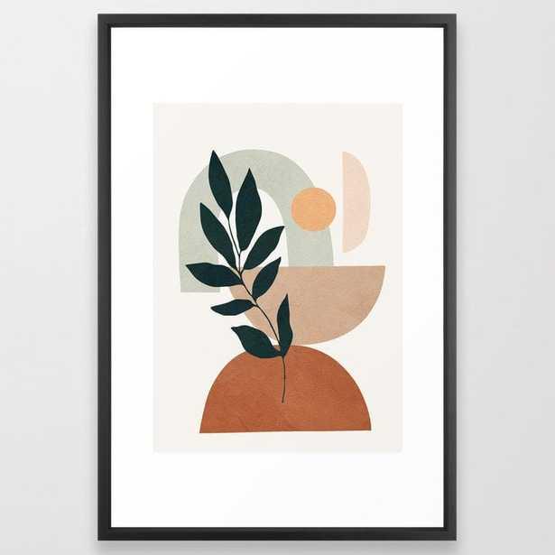 Soft Shapes IV Framed Art Print - Society6