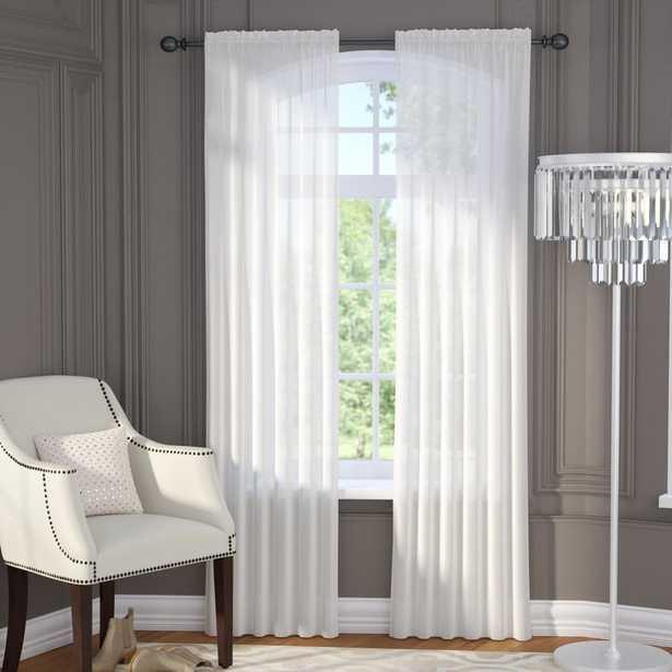 Brushgrove Solid Sheer Rod Pocket Window Curtain Panels (Pair) - Wayfair