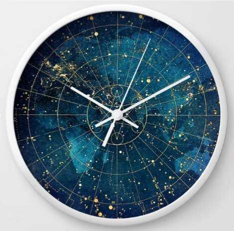 Star Map :: City Lights Wall Clock - Society6