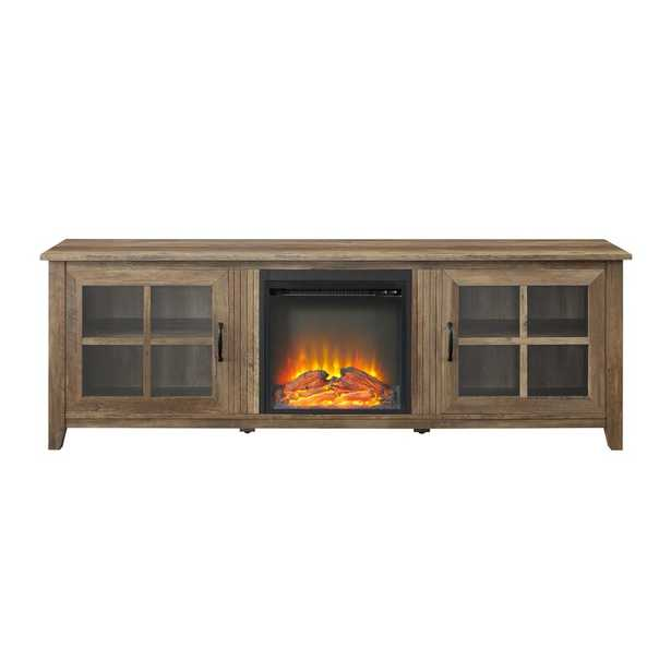 """Dake TV Stand for TVs up to 78"""" with Electric Fireplace Included - Wayfair"""