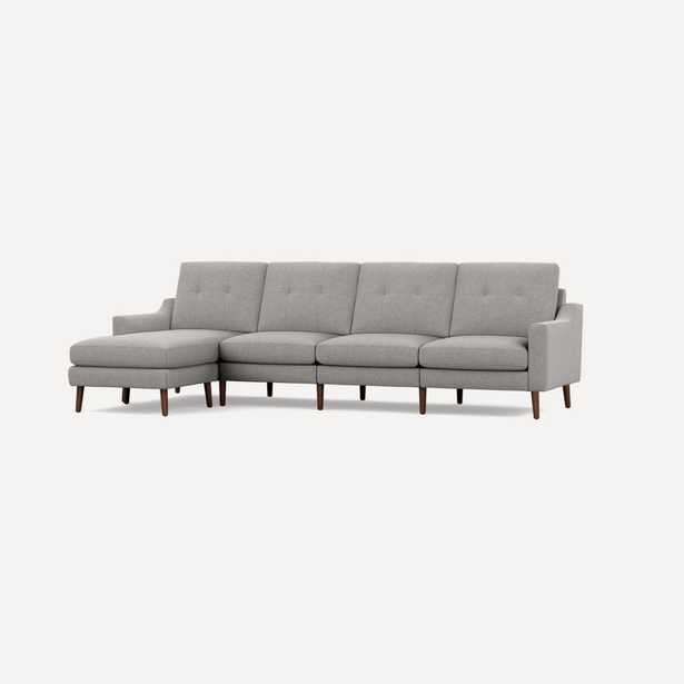 Nomad King Sectional - Crushed Gravel - Burrow