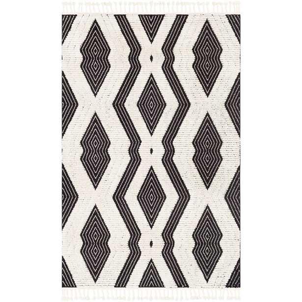 Macalla Global-Inspired Black/Ivory Area Rug - Wayfair
