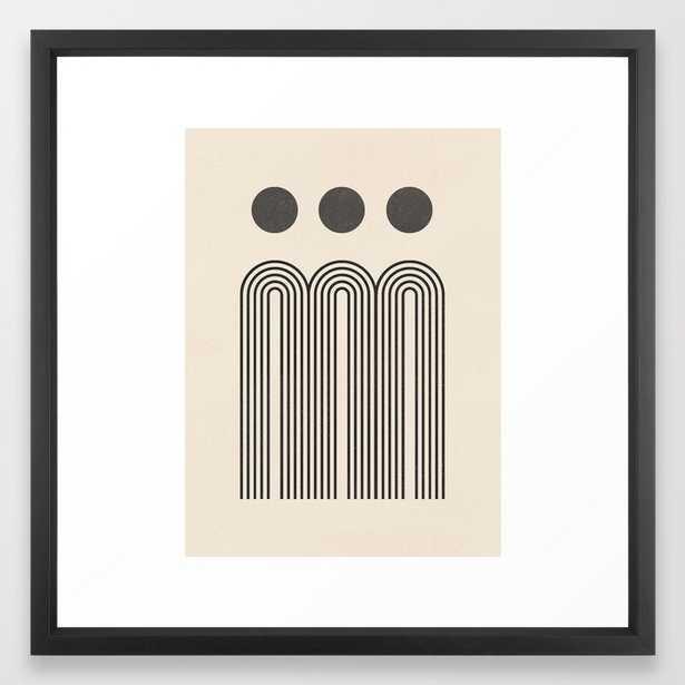 Minimal Geometric 69 Framed Art Print - Society6