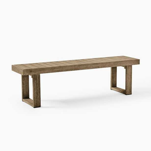 """Portside Outdoor Dining Bench, 66"""", Driftwood - West Elm"""