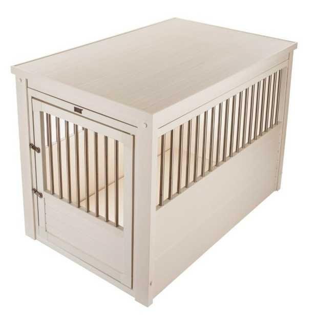 Ginny Pet Crate - Antique White, Large - Wayfair