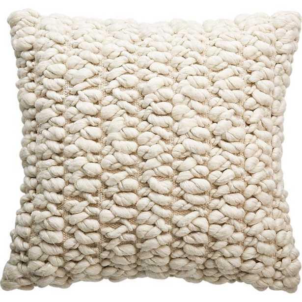 """20"""" tillie wool pillow with down-alternative insert - CB2"""