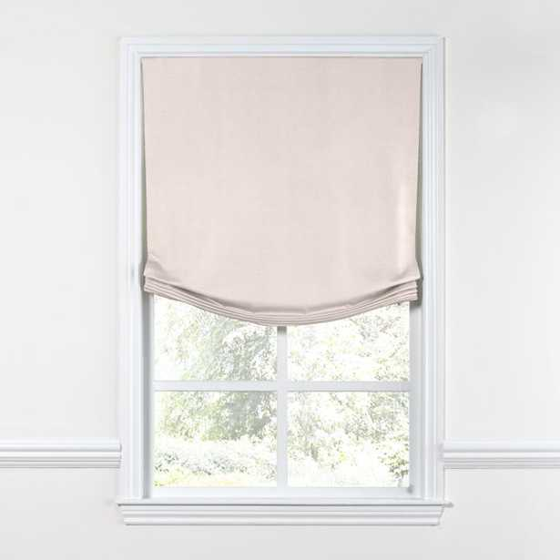 Relaxed Roman Shade  Lush Linen - Cameo - Loom Decor