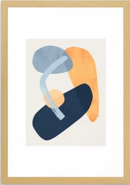 "Mila Framed Art Print, 15"" X 21"", Conservation Natural - Society6"