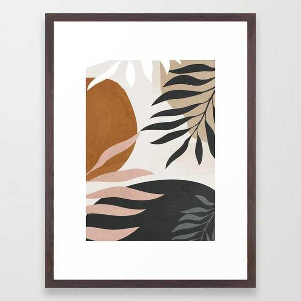 """Abstract Art 54 Framed Art Print - Medium (gallery) - 20"""" X 26"""" - Conservation Walnut - Society6"""