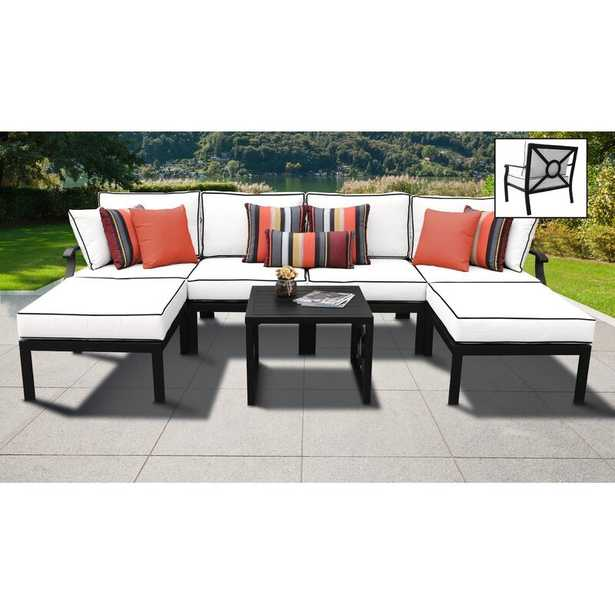 kathy ireland Madison Ave. 7 Piece Sectional Seating Group with Cushions - Wayfair