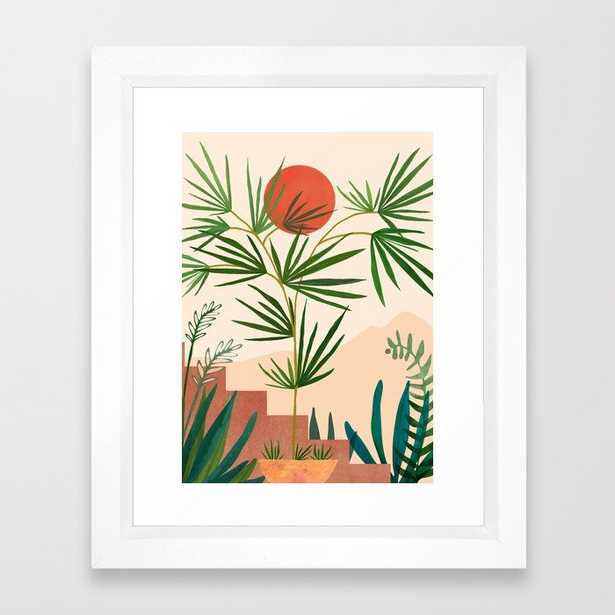 """Weekend - 10"""" x 12"""" - vector white - Society6"""