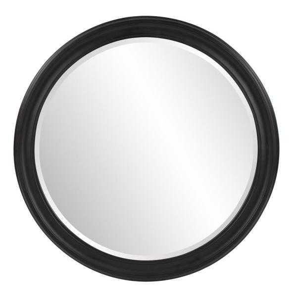 Medium Round Black Beveled Glass Classic Mirror (36 in. H x 36 in. W) - Home Depot