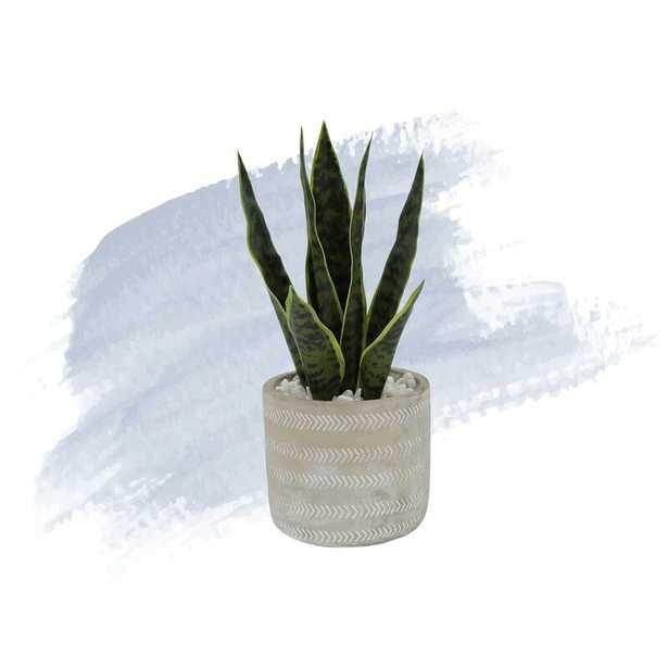"6.5"" Artificial Snake Plant in Pot - Wayfair"