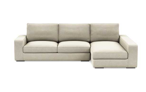 AINSLEY Sectional Sofa with Right Chaise - Flax - Interior Define