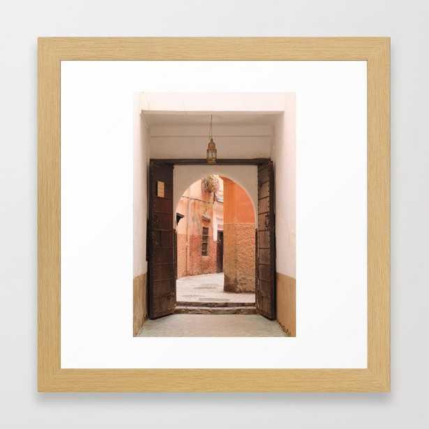 Inside the souk in Marrakech Framed Art Print - Society6