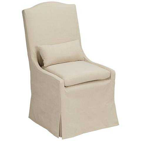 Hamlet Pebble Slipcover Dining Chair - Lamps Plus