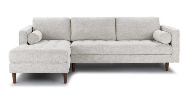 Sven Birch Ivory Left Sectional Sofa - Article