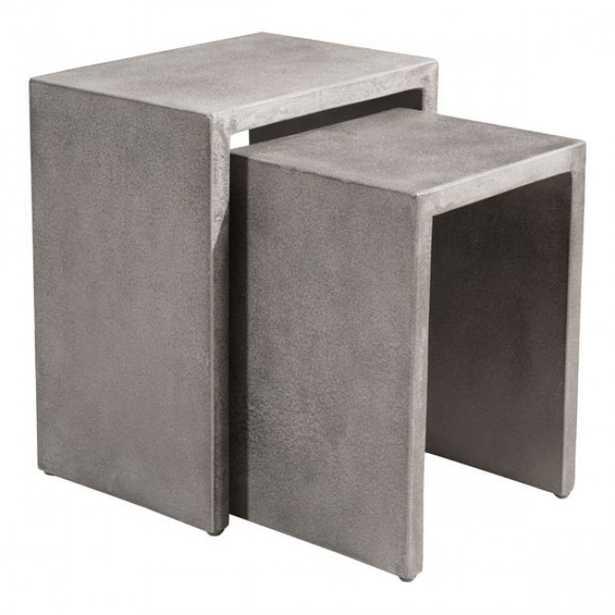 Mom Nesting Side Tables Cement - Zuri Studios