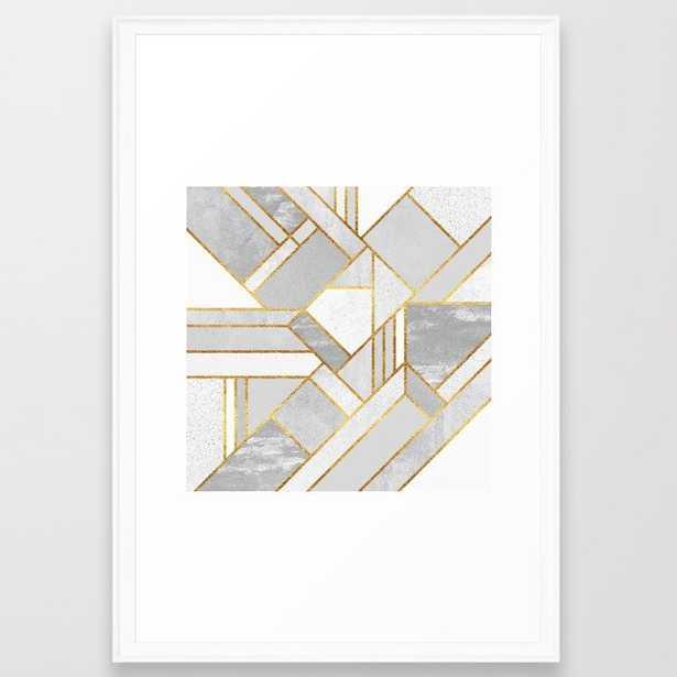 Gold City Framed Art Print - Society6