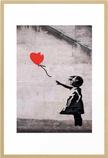 Banksy, Hope Framed Art Print 26 x 38 - Society6