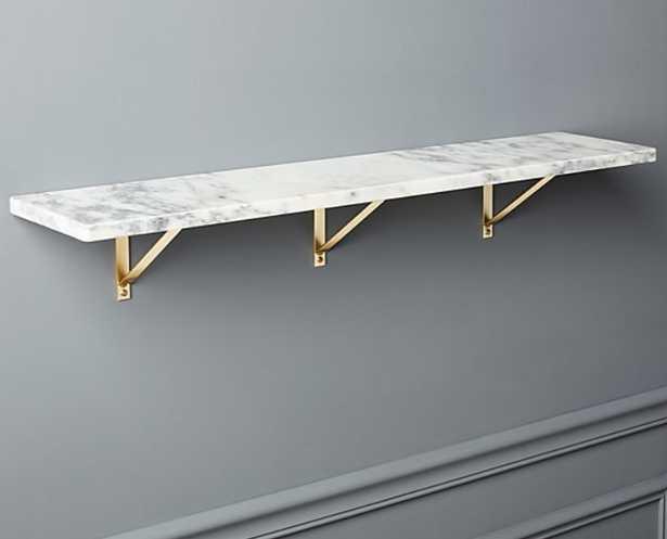 "Marble Wall-Mounted Shelf - 36"" - CB2"
