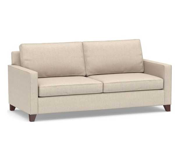 """Cameron Square Arm Upholstered Deep Seat Grand Sofa 2-Seater 96"""", Polyester Wrapped Cushions, Performance Everydaylinen(TM) by Crypton(R) Home Oatmeal - Pottery Barn"""