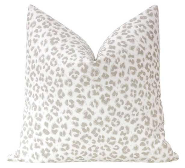 "Cougar Linen Print // Stone - 18"" X 18"" - Little Design Company"
