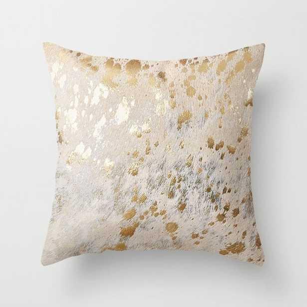 Gold Hide Print Metallic Throw Pillow - Society6