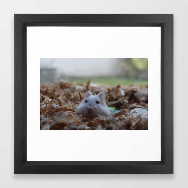 Oni hamster Framed Art Print - Society6
