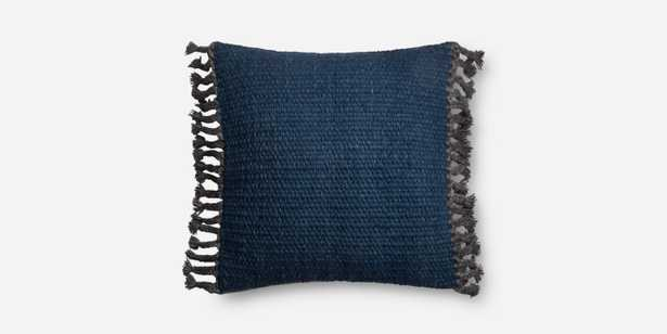 """P0616 NAVY 22"""" x 22"""" Cover W/ Down - Loma Threads"""