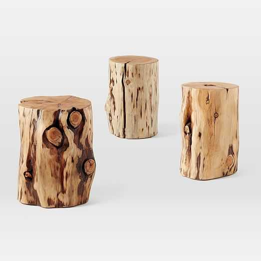 Natural Tree-Stump Side Table (White Glove Delivery) - West Elm