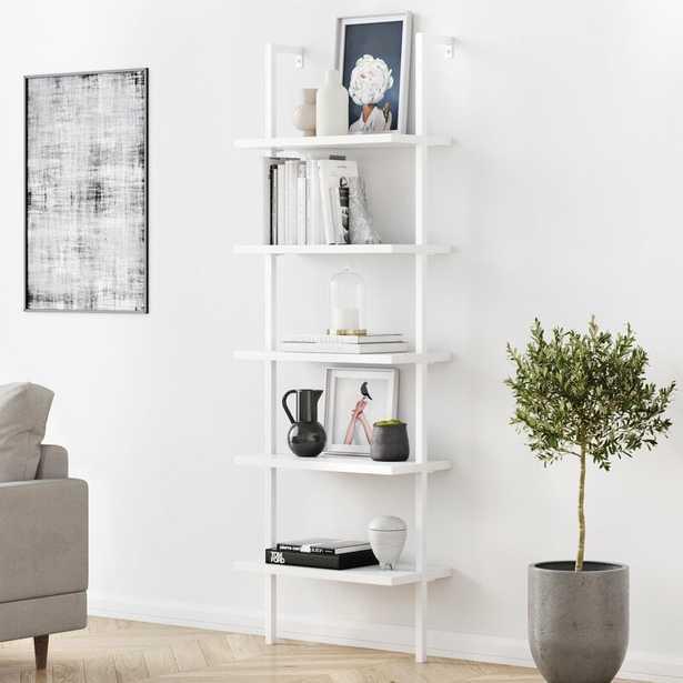 """Zachary 72.5"""" H x 24"""" W Steel Ladder Bookcase - Wayfair"""