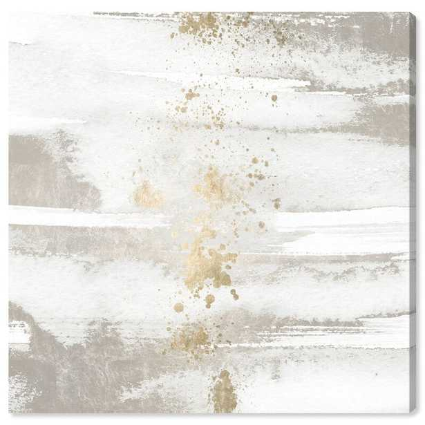 'Sun and Rain Abstract' Wrapped Canvas Acrylic Painting Print on Canvas - AllModern