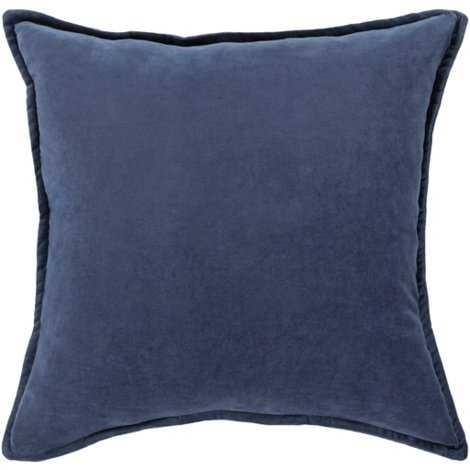 "Maxen Pillow - Navy - 18"" x 18"" - Polyester Filled - Lulu and Georgia"