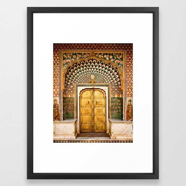 Lotus gate door in pink city at City Palace of Jaipur, India Framed Art Print - Society6