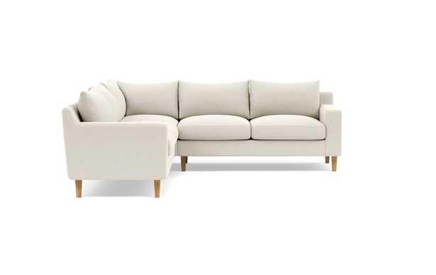 SLOAN Corner 4-Seat Sectional - Natural Oak Tapered Square Wood - Interior Define