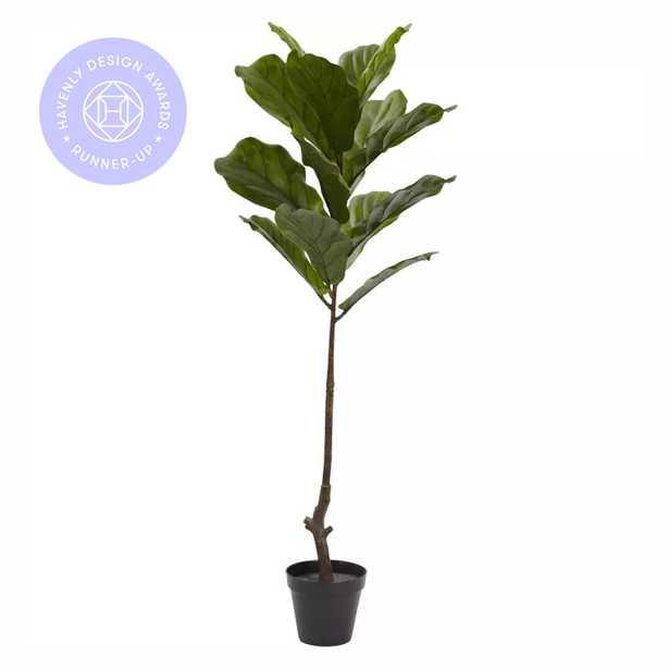 Faux Fiddle Leaf Tree, 4ft - Haldin