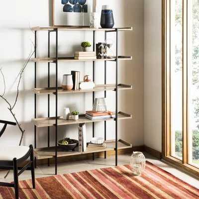 Blonde Etagere Bookcase - Wayfair