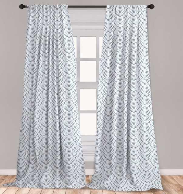 "Fish Scale Geometric Room Darkening Rod Pocket Curtain Panels 95"" - Wayfair"