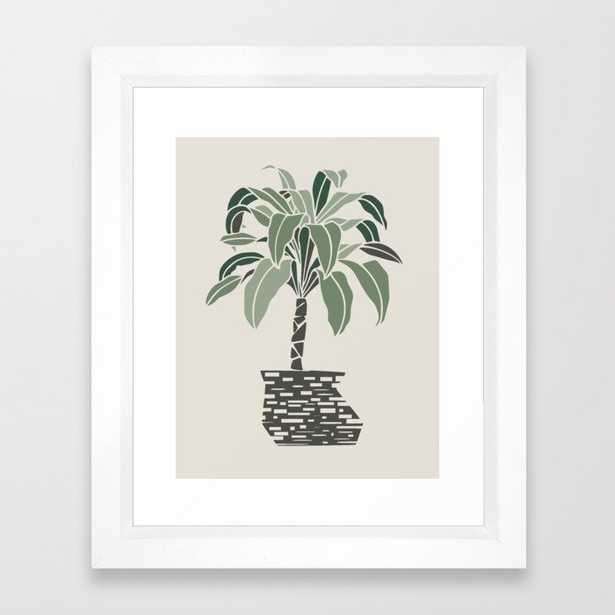 Minimal Pot Palm - Vector White - Society6