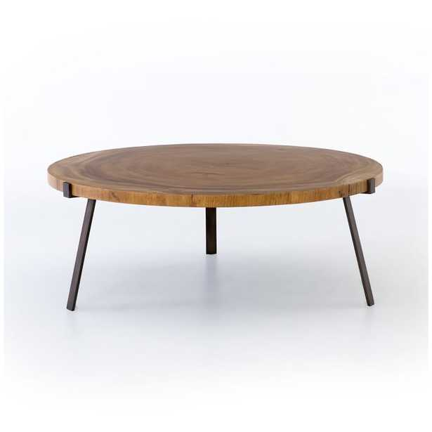 Natural Wood Round Coffee Table - West Elm